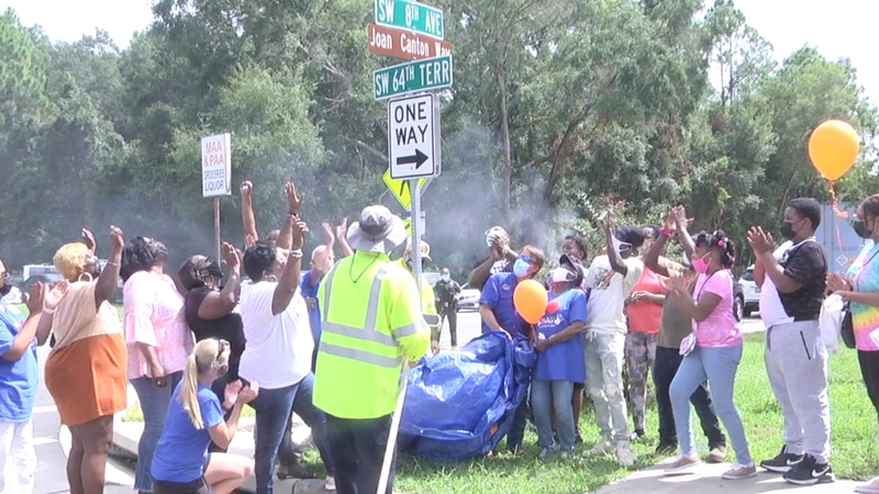 """""""She was a blessing to this community""""; SW Gainesville street named after SWAG visionary Joan..."""