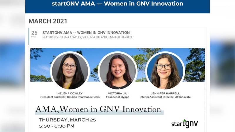 StartGNV hosts Women in Innovation AMA