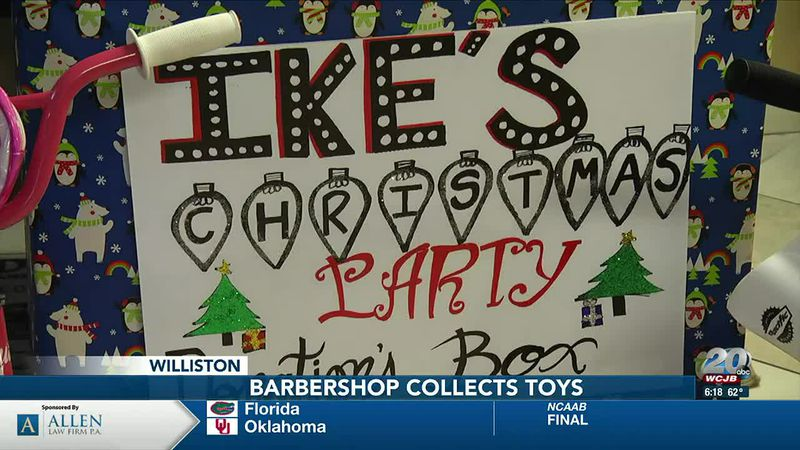 Williston barbershop owner hosts toy drive for kids at upcoming Christmas party