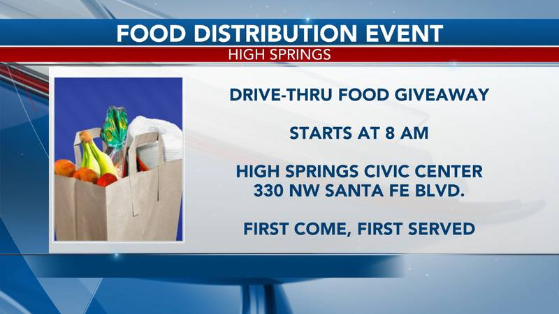The event, held at the High Springs Civic Center, will start at 8 a.m. and run until the food...