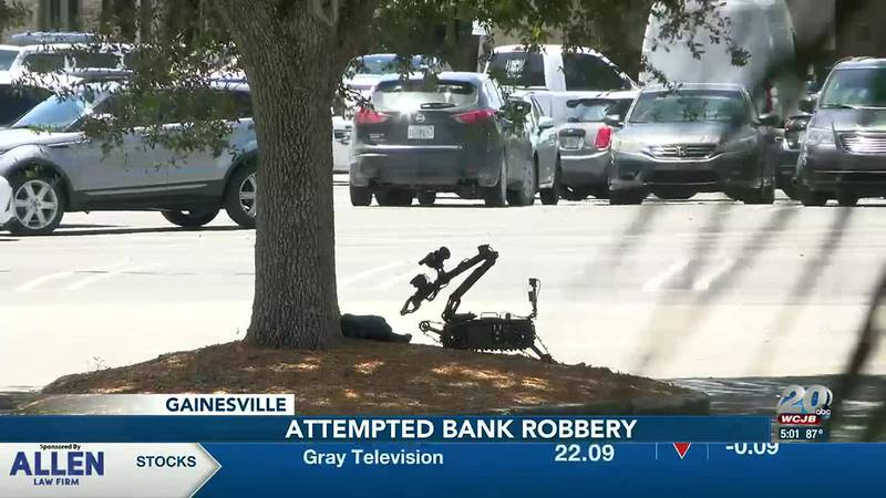 ASO Bomb Squad called in after Gainesville Police arrest a man for attempting to rob a Wells...