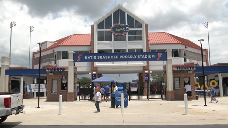 This is the first Gator game to resume full capacity after the COVID-19 pandemic shut...