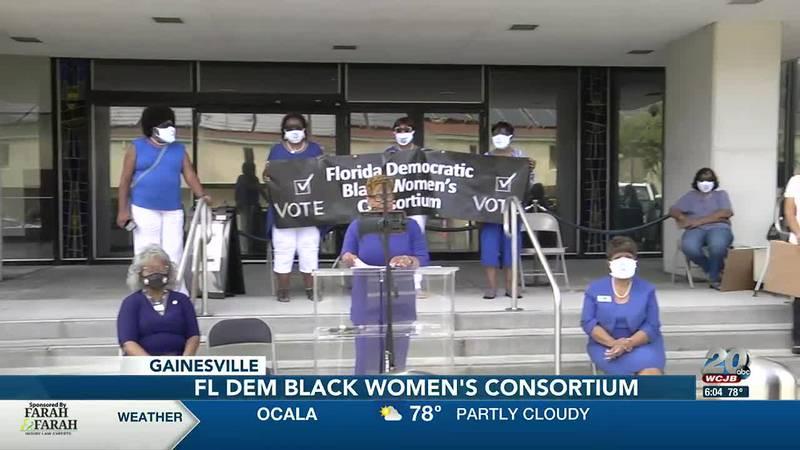 Florida's Democratic Black Women's Consortium press event.