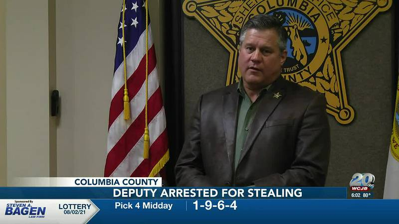 Columbia County deputy arrested after stealing nearly $3,800 in cash while on duty