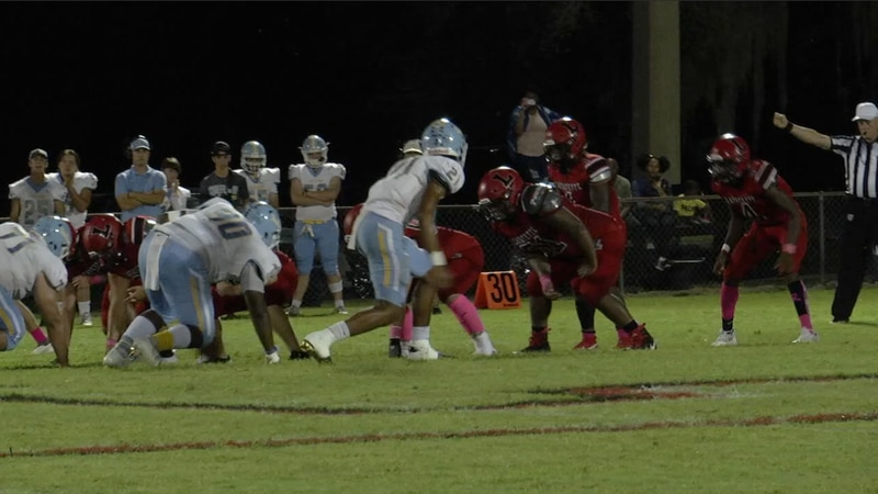 Lafayette prepares to run a play against Chiefland during their game in week eight of high...