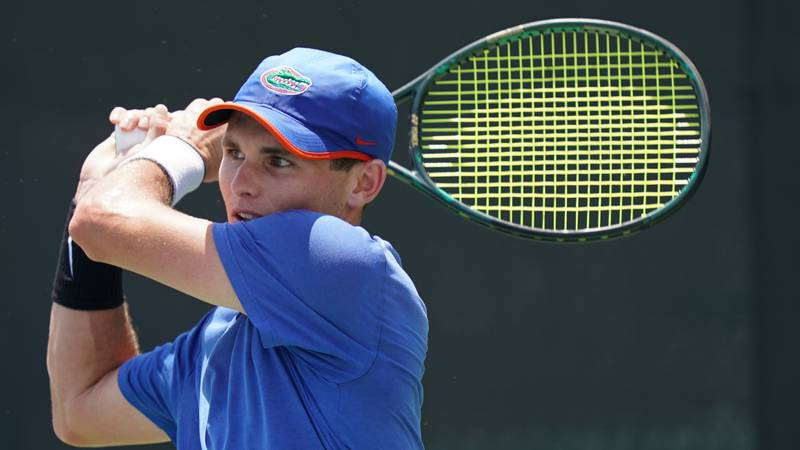 Sam Riffice of the University of Florida in action against the University of South Carolina...