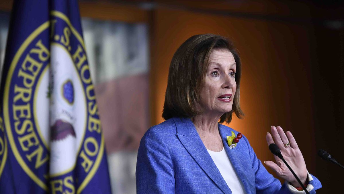 House Speaker Nancy Pelosi of Calif., speaks during a news conference on Capitol Hill in Washington, Friday, July 26, 2019. (AP Photo/Susan Walsh)