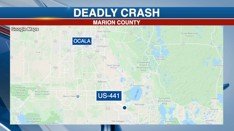 A Marion County man is dead after his truck was T-boned on US-441.
