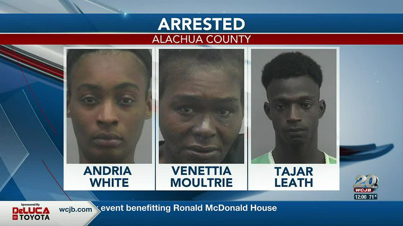 Three arrested after trying to steal a dog, attacking a family in Alachua | Andria White,...