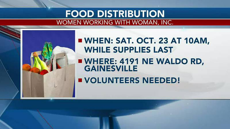 Gainesville charity hosting food distribution
