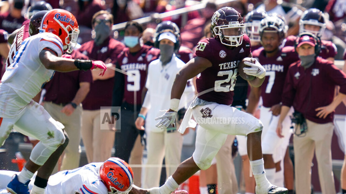 Texas A&M ran for over 200 yards against the Gators, Saturday.