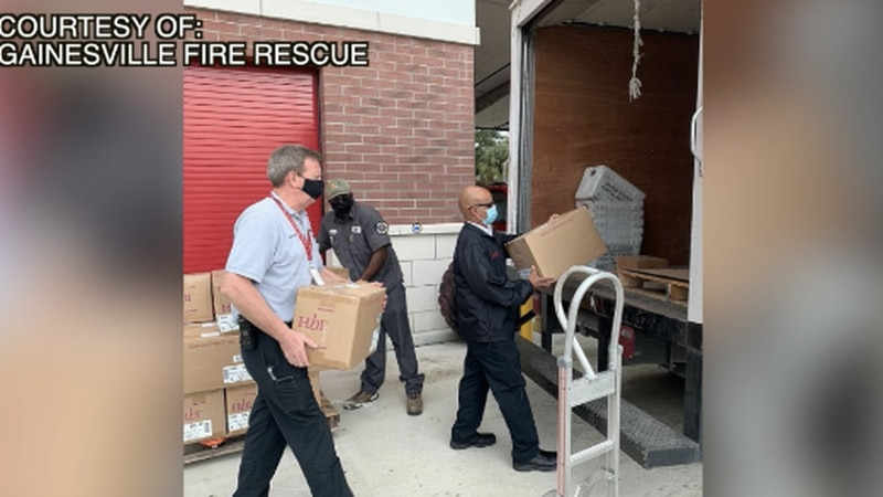 Gainesville Fire Rescue distributes thousands of masks to Alachua County schools