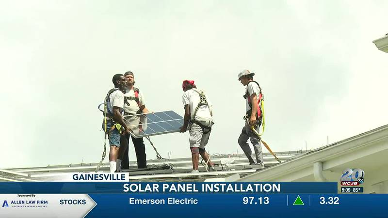 Retirement community installs solar panels as part of a project led by residents