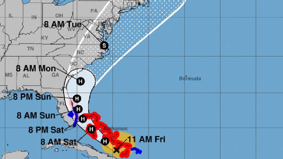 Hurricane Isaias is expected to brush the U.S. coast.